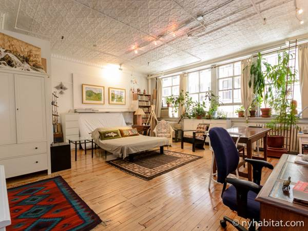 New york bed and breakfast 1 bedroom loft apartment for New york loft apartments