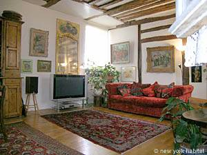 Paris 3 Bedroom - Duplex accommodation - Apartment reference PA-927