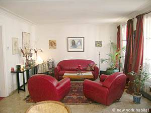 Paris 2 Bedroom accommodation - living room (PA-983) photo 1 of 7