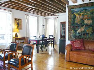 Paris 2 Bedroom - Duplex accommodation - living room (PA-1274) photo 2 of 4
