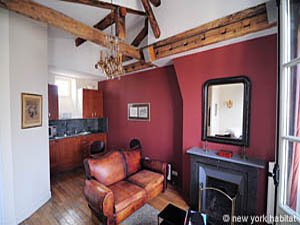 Paris Studio T1 appartement location vacances - séjour (PA-1924) photo 2 sur 4