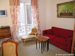 Paris 1 Bedroom accommodation - living room (PA-2410) photo 2 of 8