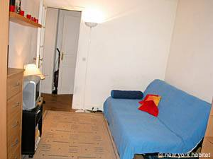 Paris Studio T1 logement location appartement - séjour (PA-2810) photo 1 sur 6