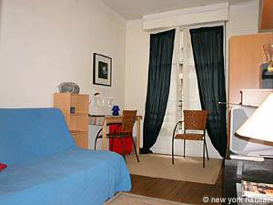 Paris Studio T1 logement location appartement - séjour (PA-2810) photo 5 sur 6