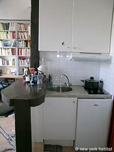 Paris Studio T1 logement location appartement - cuisine (PA-3257) photo 2 sur 2