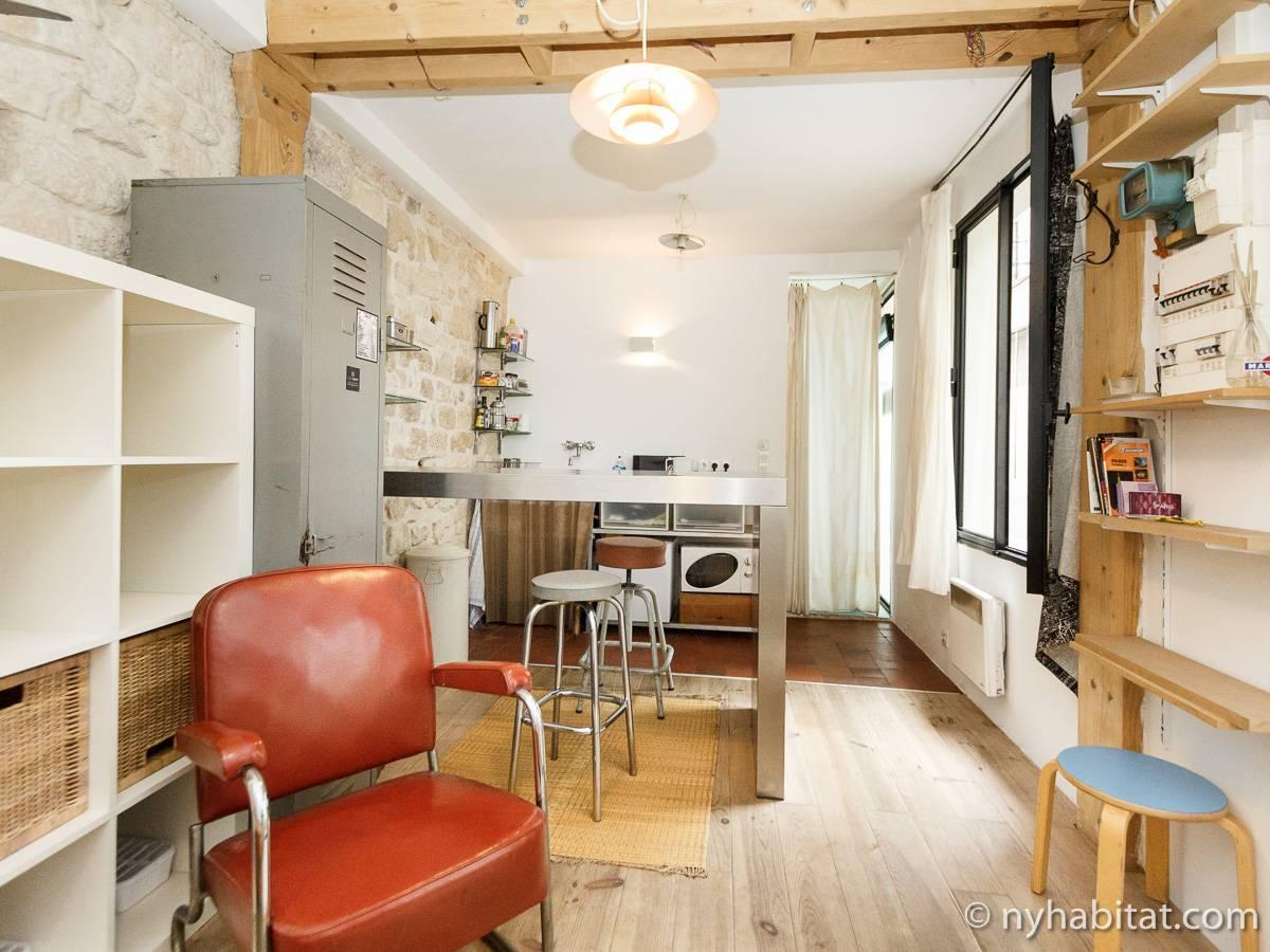 logement paris location meubl e studio t1 le marais pa 3411. Black Bedroom Furniture Sets. Home Design Ideas