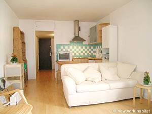 Paris Studio T1 logement location appartement - séjour (PA-3555) photo 2 sur 6