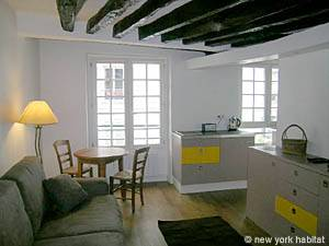 Paris Studio apartment - living room (PA-3964) photo 1 of 6