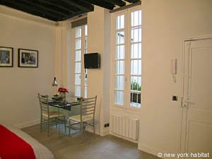 Paris Studio T1 logement location appartement - séjour (PA-4035) photo 4 sur 8