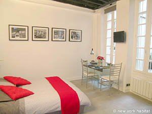 Paris Studio T1 logement location appartement - séjour (PA-4035) photo 1 sur 8