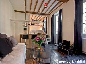 Paris Alcove Studio apartment - living room (PA-4180) photo 1 of 9