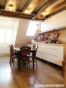 Paris T4 - Loft - Triplex appartement location vacances - cuisine (PA-4264) photo 1 sur 2