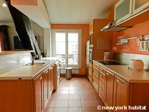 Paris T2 - Duplex - Penthouse logement location appartement - cuisine (PA-4274) photo 1 sur 2