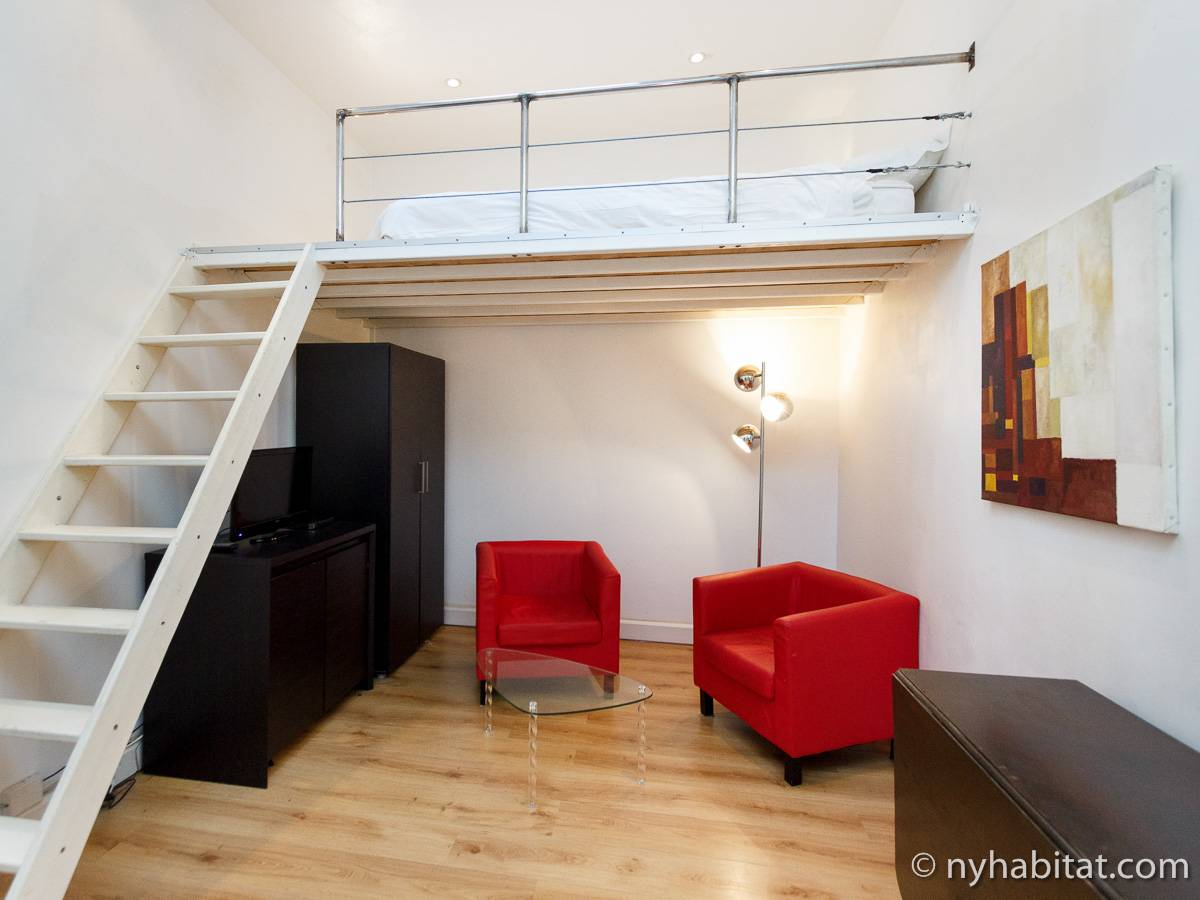 Logement paris location meubl e studio avec alc ve t1 for Location appartement atypique paris