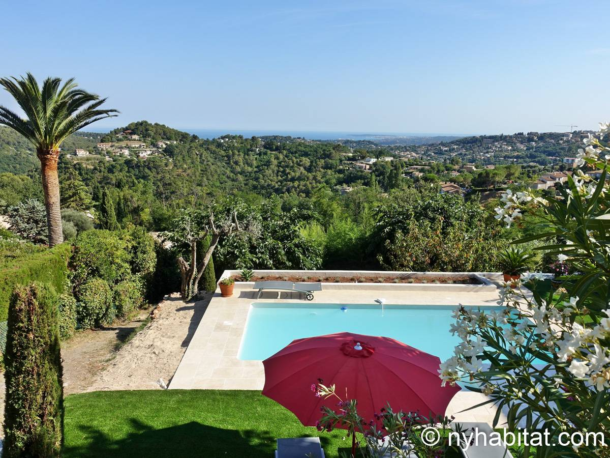 South France Accommodation: 2 Bedroom Villa Rental in Vence, French ...