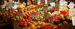 Fruterías en los Mercados Vistosos de Londres