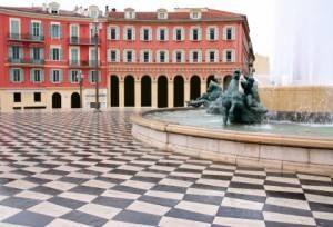 Plaza Massena en Niza, Francia