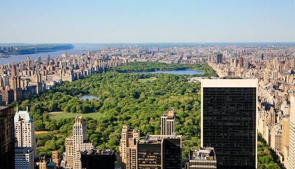 Vistas panorámicas de Central Park desde Midtown Manhattan