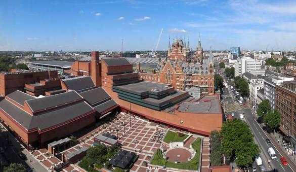Fotografía de la Biblioteca Británica en Londres