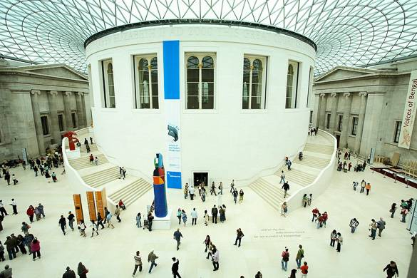 Fotografía del Museo Británico de Londres, cuya entrada es gratuita