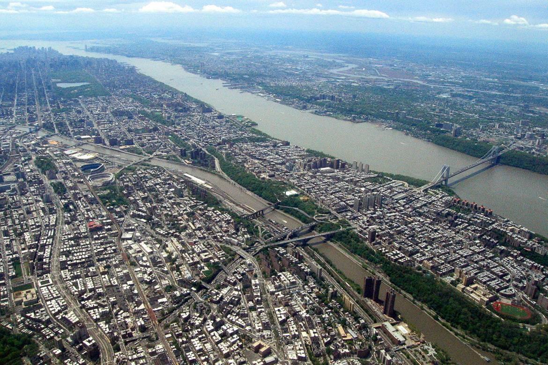 Panorámica del Bronx y Upper Manhattan en Nueva York.