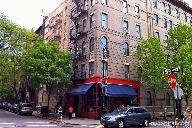 Imagen de una esquina de Greenwich Village