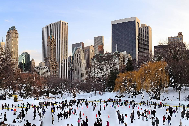 Imagen de la pista de patinaje sobre hielo de Central Park's
