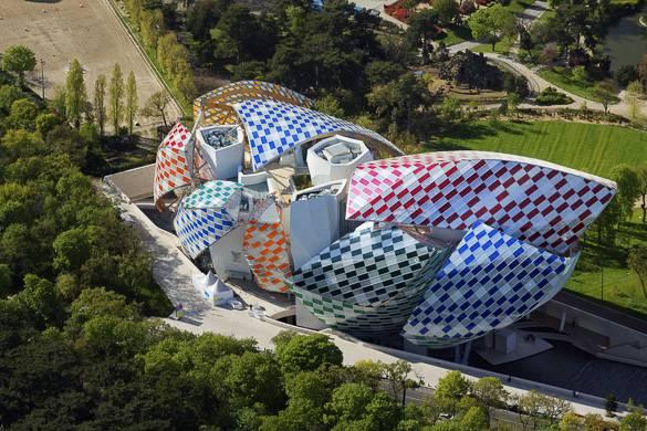 Fotografía del edificio de la Fundación Louis Vuitton