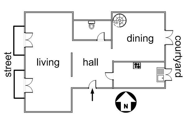Layout of apartments