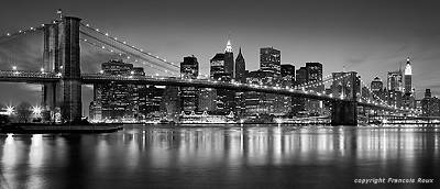 New York Brooklyn Bridge by Francois Roux