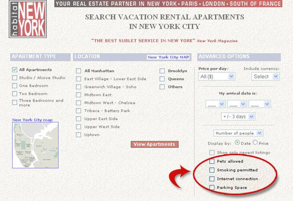 Apartment search – New features