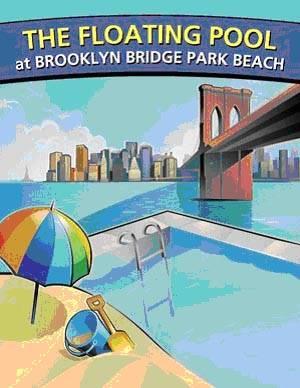 New York Events: The Floating Pool at Brooklyn Bridge