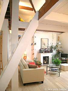 1 Bedroom Rental Canal Saint Martin living room PA-3288