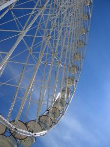 Photo of a ferris wheel in Paris
