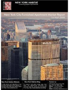 1st half 2008 results in: New York Furnished Apartment Market Report Published