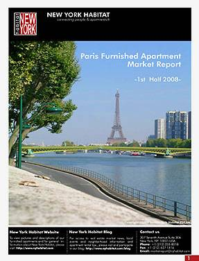 1st half 2008 Paris Furnished Apartment Market Report Released