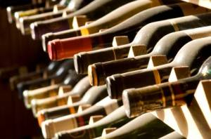 Photograph of wine rack