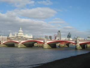 Blackfriars Bridge on The Thames, London