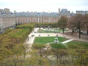 The most beautiful square in Paris: Place des Vosges