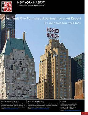 The 2009 2nd half and full year New York Furnished Apartment Market Report
