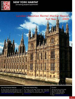 London Vacation Rental Market Report: 2009 2nd half and Full Year