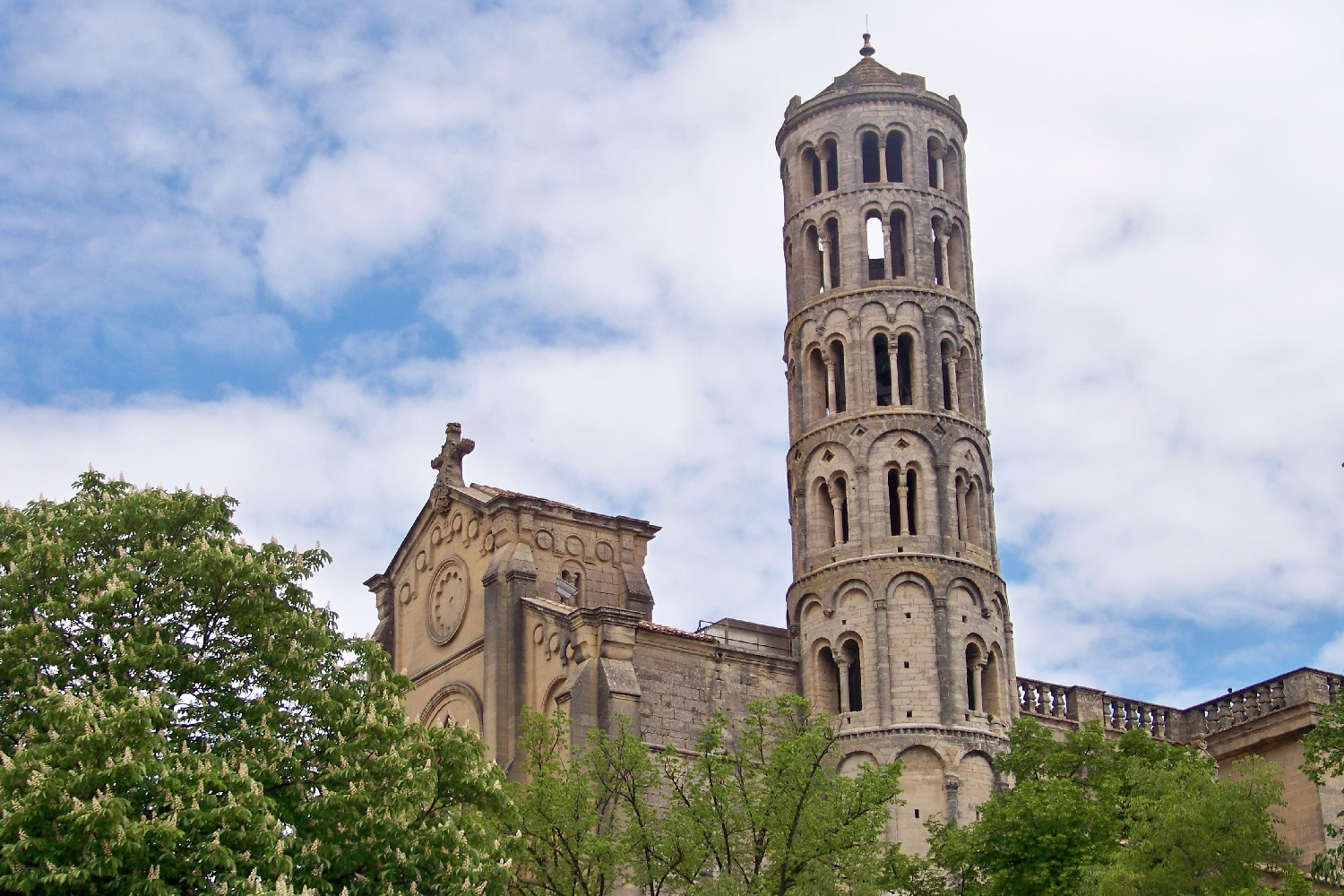 Image of Fenestrelle Tower in Uzès, France.