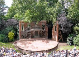 An open air theatre scene in Regent Park. Photo by Mike Fleming