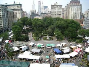 View of the Union Square market