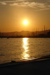 Photo of Sunset at Cannes harbor
