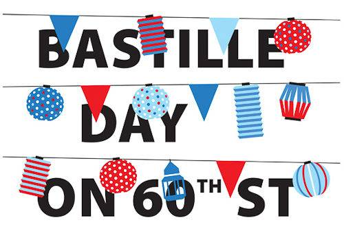 The logo for the New York City's French Institute's Bastille Day on 60th Street