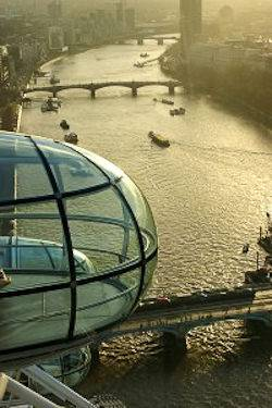 Image of the Thames River taken from the London Eye