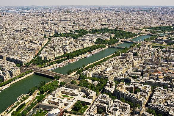 Panorama of the Seine River in Paris