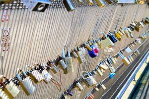 Picture of Pont des Arts love locks in Paris