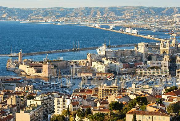 Picture of Marseille's Vieux-Port, new harbors and the Mediterranean